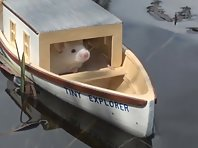 Stuart and his first boat ride